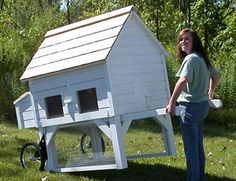 mobile chicken coop - love it!