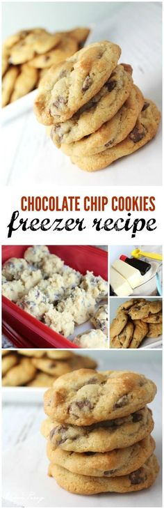 Chocolate Chip Cookies Freezer Recipe Easy! Here is an easy recipe to make cookies from scratch, put them in your freezer, and bake them as you need them!