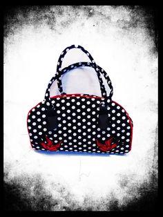 Rockabilly kabelka s vlaštovkami Rockabilly, Pin Up, Lunch Box, Bags, Design, Handbags, Bento Box, Bag
