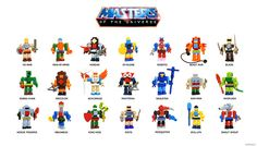 Masters of The Universe - Brickbuild figures