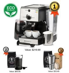 Win a Espresso Machine Set Espresso Coffee Machine, Coffee Maker, Coffee Break, Iced Coffee, Giveaway, Nitro Coffee, Yogurt Smoothies, Fun Cooking, Household