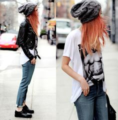 I'd wear a different shirt...The Stylist Own Tee, Jacket, A.N.D Jeans