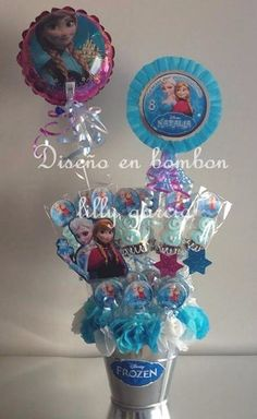 1000 images about centros de mesas on pinterest mesas frozen and balloon centerpieces - Centros de mesa de frozen ...