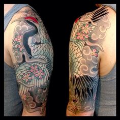 japanese crane tattoo sleeve - Google zoeken