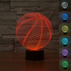 2016 Creative Basketball 3D Lamp Optical Illusion Bulbing Led Table Lamp RGB 7 Color Lava Lamp Touch Baby Led Night Light //Price: $US $25.81 & Up to 18% Cashback on Orders. //     #gifts
