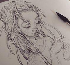Dreadlock sketching ❤