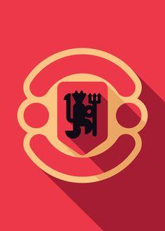 Minimalist Manchester United | Futbol Artist Network