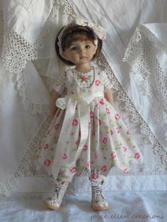 "13"" Effner Little Darling BJD Checks Roses OOAK Handmade Set by JEC   eBay"