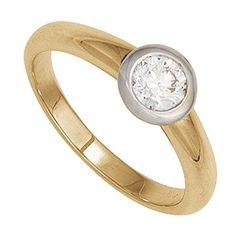 Dreambase Damen-Ring gelb weiß kombiniert 14 Karat (585) Bicolor 1 Diamant 0.20 ct. 56 (17.8) Dreambase http://www.amazon.de/dp/B00N5BS2S8/?m=A37R2BYHN7XPNV