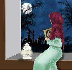Image discovered by Naina. Find images and videos about night, islam and hijab on We Heart It - the app to get lost in what you love. Girl Cartoon Characters, Cute Cartoon Girl, Cartoon Art, Quran Wallpaper, Islamic Wallpaper, Muslim Images, Ramadan Images, Islamic Cartoon, Anime Muslim