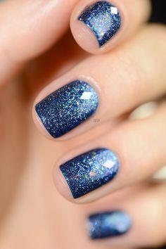 Nail Art | Nail Portfolio-by Asher Socrates #fingernails #stars #glitter #twinkle #frozen