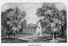 Chawton Church, Illustration, Memoirs of Jane Austen, by Edward Austen Leigh