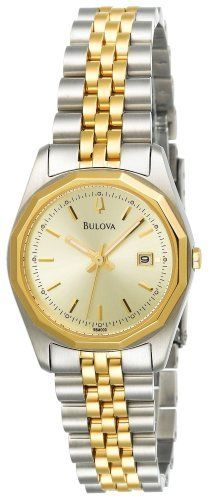 Bulova Women's 98M000 Bracelet Calendar Watch Bulova. $119.00. Stainless-steel case; champagne dial; date function. Water-resistant to 45 M (150 feet). Quality Japanese-quartz movement. Mineral crystal. Save 52% Off!