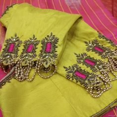 Raw Silk Fabric, Maggam Work Designs, Thread Work, Work Blouse, Appointments, Fashion Boutique, Blouse Designs, Sarees, Blouses