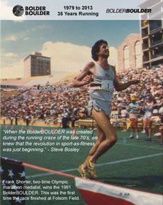 Frank Shorter winning the 1981 BolderBOULDER. Enjoy!