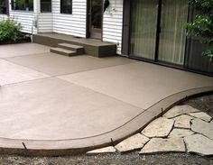 Ideas for colored concrete patio deck design Concrete Patios, Colored Concrete Patio, Concrete Patio Designs, Cement Patio, Backyard Patio Designs, Brick Patios, Diy Patio, Backyard Landscaping, Patio Ideas