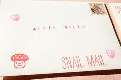 alphabet stamps #snailmail #penpals #letters