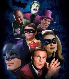 BATMAN (TV series - the classic TV series with all the infamous vilians - Joker, Penguin, Riddler & Cat Woman Batman 1966, Im Batman, Batman Robin, Adam West Batman, Batman Tv Show, Batman Tv Series, Dc Comics, Batman Comics, Batgirl