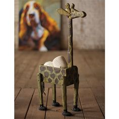 Reclaimed Wood Giraffe Planter | Home Accents