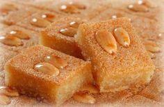 Namura ou Basboussa - Receitas da culinária árabe.