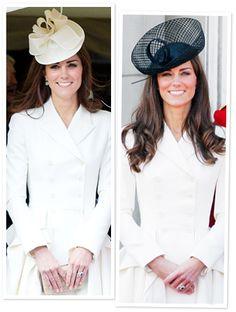 Kate Middleton's white Alexander McQueen coat in 2012 (left) and 2011 (right) http://news.instyle.com/2012/06/18/kate-middleton-white-coat/#
