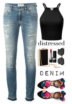 """""""Untitled #350"""" by andreearucsandraedu ❤ liked on Polyvore featuring Faith Connexion, H&M, Fendi and Christian Dior"""