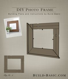 Turn any molding into a picture frame complete with inset glass build diy photo frame building plans by buildbasic build basic solutioingenieria Gallery