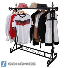 Songmics Kleiderständer Kleiderstange Garderobenständer Ladeneinrichtung HRA006B