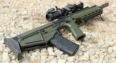 Kel-Tec RDB Bullpup OD Green Downward Ejection Port That's awesome! I wonder if I can modify my RFB into something like this. Weapons Guns, Military Weapons, Guns And Ammo, Glock Guns, Cosplay Weapons, Tactical Rifles, Firearms, Shotguns, Airsoft