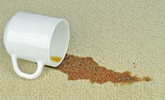 Remove coffee stain tricks, Source by moderncarpetdesign Baking Soda On Carpet, Baking Soda Cleaning, Coffee Mugs With Logo, Diy Carpet Stain Remover, Coffee Stain Removal, Stain On Clothes, Removing Carpet, Coffee Carts, Coffee Coffee