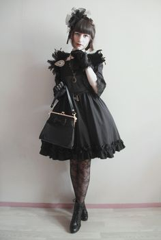 "Gothic Lolita - ""/cgl/ - Cosplay & EGL"" is imageboard for the discussion of cosplay, elegant gothic lolita (EGL), and anime conventions. Lolita Goth, Gothic Lolita Fashion, Gothic Outfits, Lolita Dress, Japanese Fashion, Asian Fashion, Wicca, Cute Emo Outfits, Mori Girl Fashion"