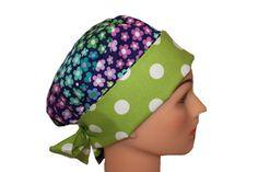 Scrub Hat Surgical Scrub Cap Chemo Hat Tie by ScrumptiousScrubHatz, $16.49