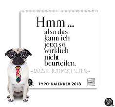 Kleiner Typokalender 2018 kaufen