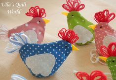 Ulla's Quilt World: Quilted Easter chicken pouch, diy.