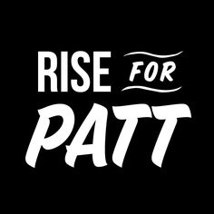 #RISE4PATT Typography https://givealittle.co.nz/cause/rise4patt/donations