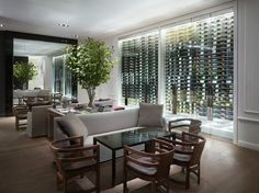 What a fabulous wine rack built into a house