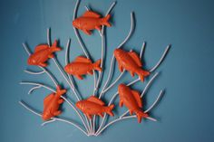 Hey, I found this really awesome Etsy listing at https://www.etsy.com/listing/77117182/swimming-fish-coastal-wall-decor