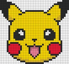 Pikachu Hama bead pattern like if you played some of the first generations games. Enjoy it!