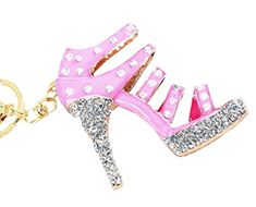 Jeweled High Heeled Shoe Key Chain,Key Ring,Key Holder w// Brilliant Cut Crystals
