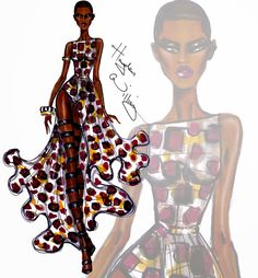 Hayden Williams Fashion Illustrations: Wildlife Safari by Hayden Williams: Look 4