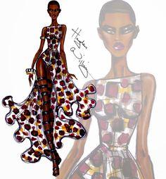 #Hayden Williams Fashion illustrations #Wildlife Safari by Hayden Williams: Look 4