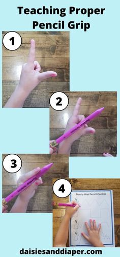 Teaching Pencil Grip With Pre - Handwriting Practice Pages * Daisies & Diapers