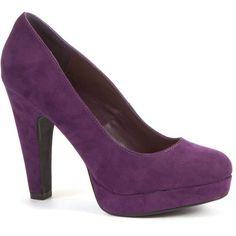 Purple Platform Court Shoes ($15) found on Polyvore