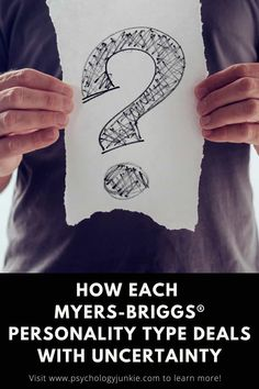 Are you struggling with uncertainty right now? Find out how each of the 16 Myers-Briggs® personality types grapple with uncertainty and chaos. Istj, Enfp, Introvert, Mbti Personality, Infp Quotes, Feeling Abandoned, Myers Briggs Personalities
