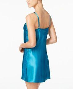 Thalia Sodi Lace-Panel Chemise, Created for Macy's - Green XXL