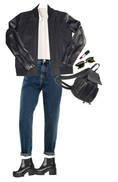 """""""Untitled #142"""" by junk-food ❤ liked on Polyvore featuring The Kooples, Vagabond, Ray-Ban, M.A.C, women's clothing, women's fashion, women, female, woman and misses"""