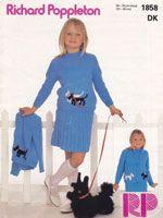 vintage girls jumper suit dogs 1980s