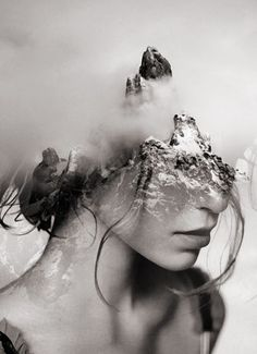 ART: Dreamy Portrait Series by Antonio Mora Spanish-based artist Antonio Mora, also known as mylovt, uses the web to craft his surreal works. He looks through online databases and finds images that he. Double Exposure Photography, Art Photography, Photo D Art, Photocollage, Animation, Gif Animé, Affordable Art, Dark Art, Abstract Photography