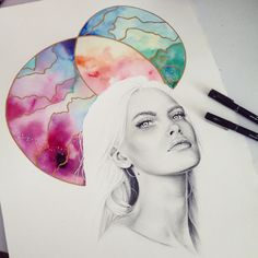 Watercolour and graphite by Elle wills