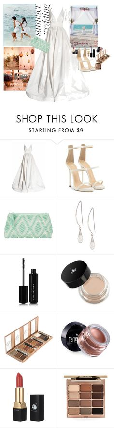 """""""Wedding on the beavh"""" by claire86-c ❤ liked on Polyvore featuring KaufmanFranco, Giuseppe Zanotti, Antonello Tedde, Lane Bryant, Marc Jacobs, Lancôme, Terre Mère, Stila, Yves Saint Laurent and contest"""